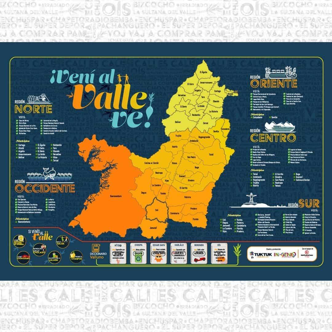 Picture of: Mapa Del Valle Del Cauca Para Raspar Ingenio Destreza Mental Rompecabezas Y Juegos Diseno Y Diversion